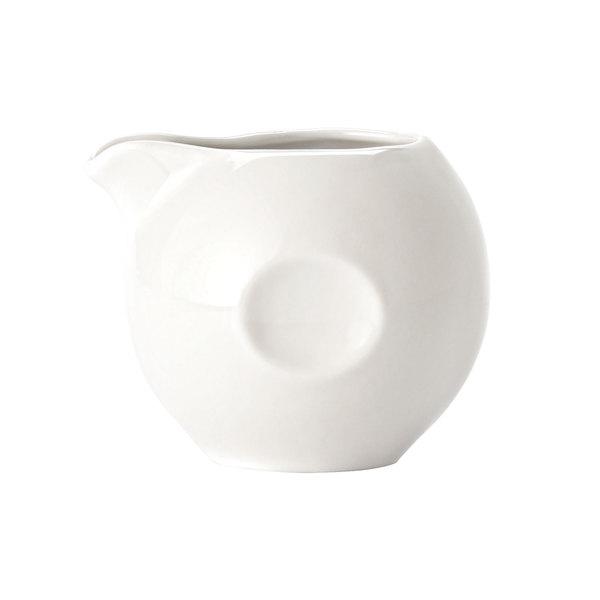 Syracuse China 999333077 Constellation 3.5 oz. Lunar White Pinched Porcelain Creamer - 36/Case