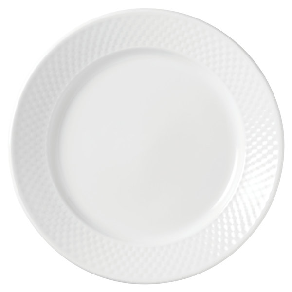 "Syracuse China 999013118 EOS Constellation 6 3/8"" Round Lunar White Porcelain Plate - 36/Case"