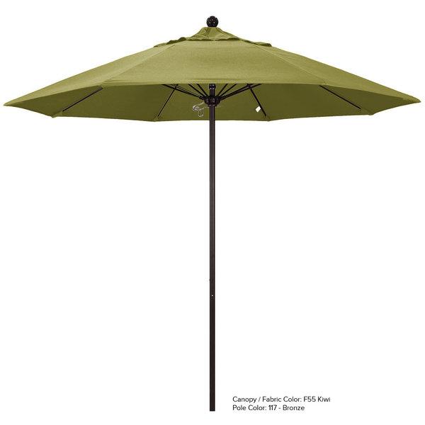 "California Umbrella ALTO 908 OLEFIN Venture 9' Round Push Lift Umbrella with 1 1/2"" Aluminum Pole - Olefin Canopy"