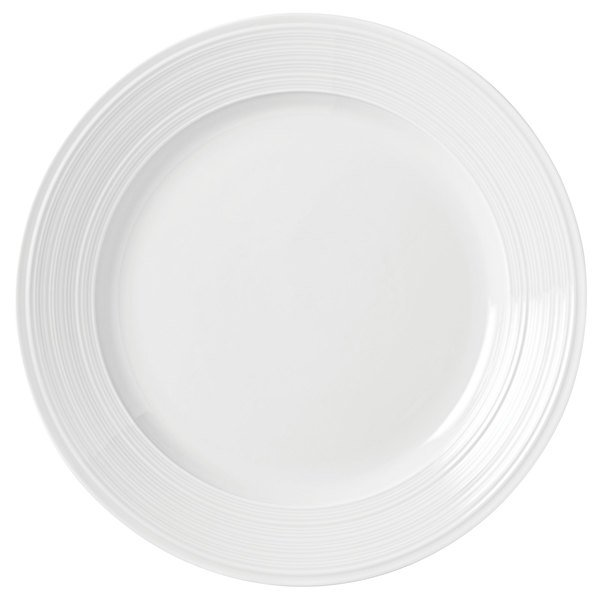 "Syracuse China 999001162 Galileo Constellation 11 7/8"" Round Lunar White Porcelain Plate - 12/Case"