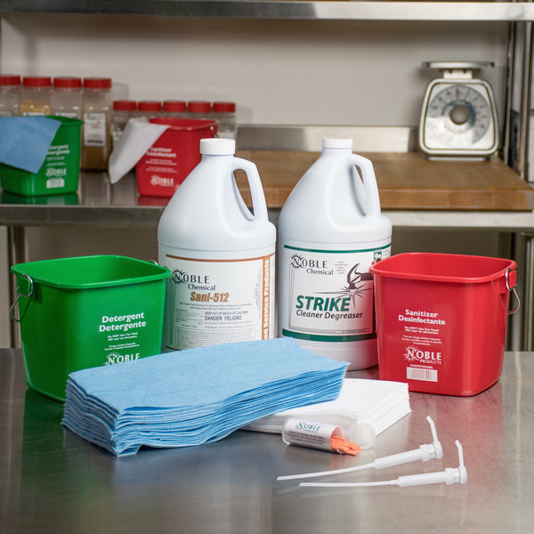 Noble Products 3 Qt. / 96 oz. Cleaning and Sanitizing Kit Main Image 11