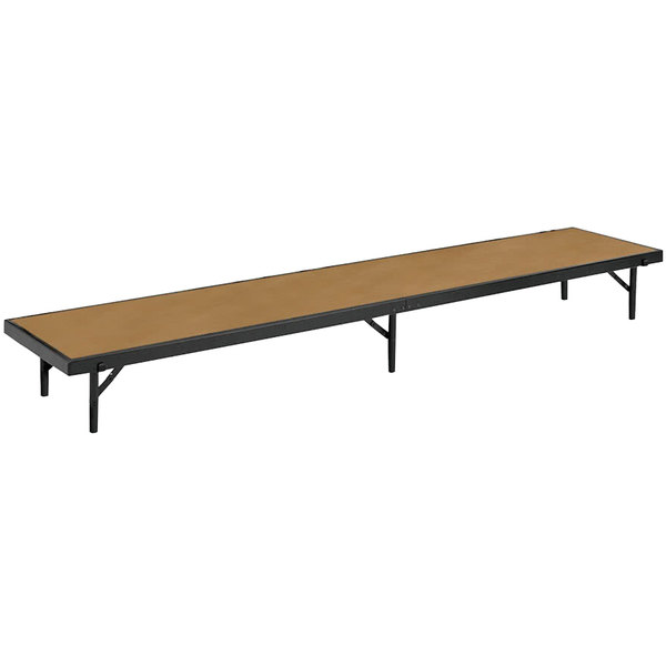 """National Public Seating RS16HB Hardboard Straight Portable Riser - 18"""" x 96"""" x 16"""""""