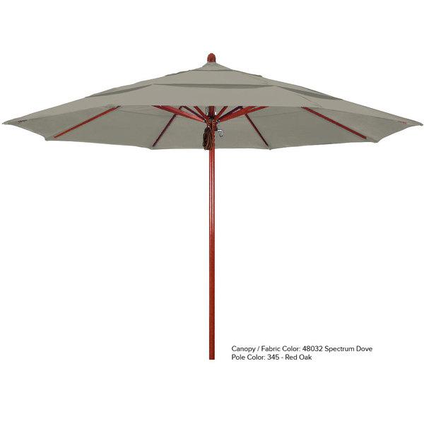 "California Umbrella FLEX 118 SUNBRELLA 1A Sierra 11' Round Pulley Lift Umbrella with 2"" Fiberglass Pole - Sunbrella 1A Canopy"
