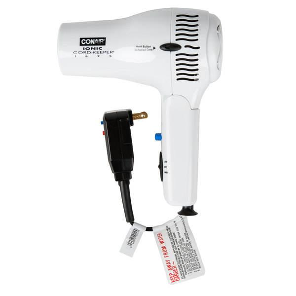 Conair 169WIW White Cord Keeper Hair Dryer - 1875W Main Image 1