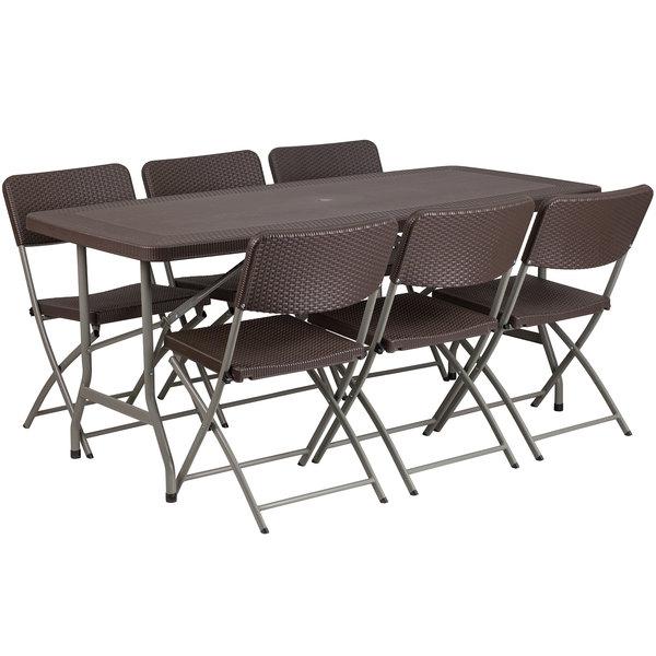 flash furniture dad ycz 172 61 gg 32 1 2 x 67 1 2 brown rattan