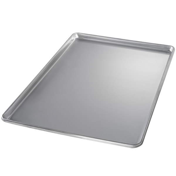 Chicago Metallic 40700 Full Size 20 Gauge Stainless Steel Sheet Pan - Sanitary Open Bead/Semi-Curled Rim, 18 inch x 26 inch