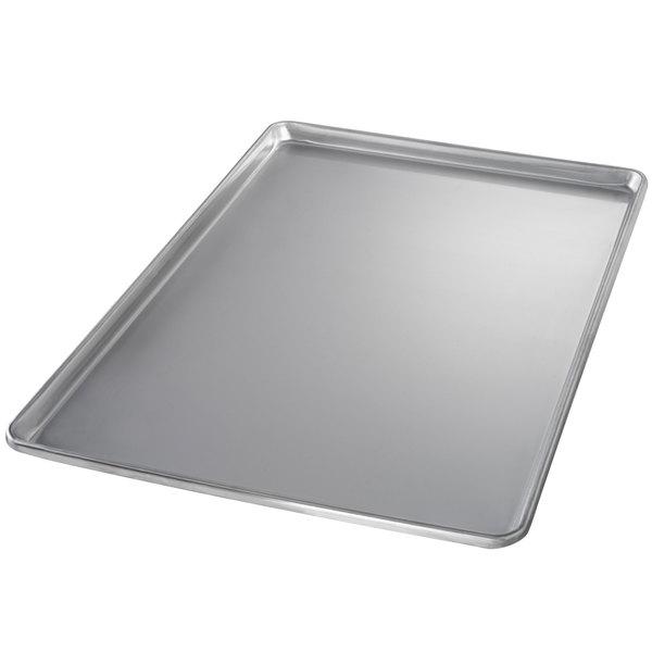 Chicago Metallic 40700 Full Size 20 Gauge Stainless Steel Sheet Pan - Sanitary Open Bead/Semi-Curled Rim, 18 inch x 26 inch