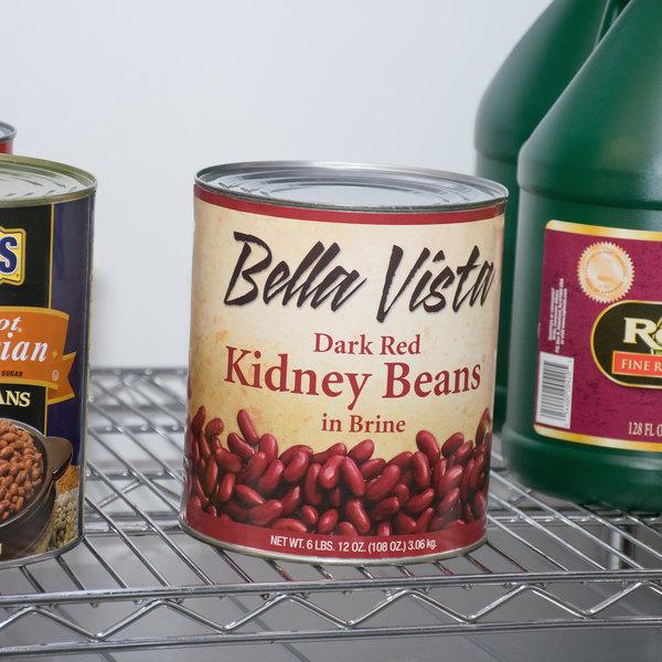 Bella Vista #10 Can Dark Red Kidney Beans - 6/Case