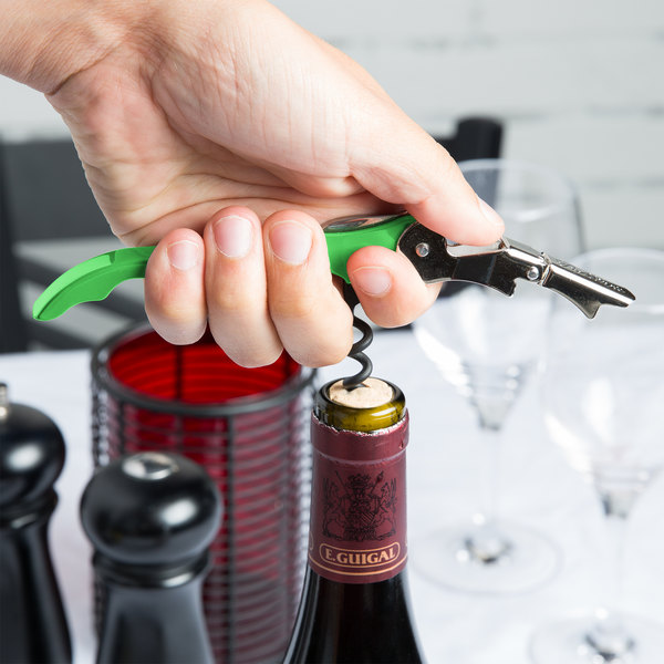 Pulltap's Original Customizable Waiter's Corkscrew with Lime Green Handle