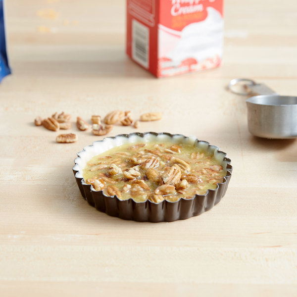 "Gobel 4 1/4"" x 3/4"" Fluted Non-Stick Tart / Quiche Pan with Removable Bottom Main Image 3"