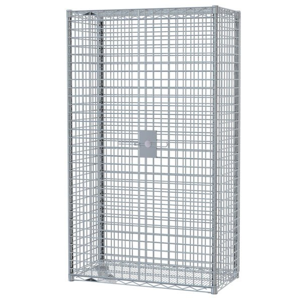 """Metro SEC66S-SD Super Erecta Mobile Stainless Steel Security Unit - 33 1/2"""" x 65"""" x 62"""" Main Image 1"""