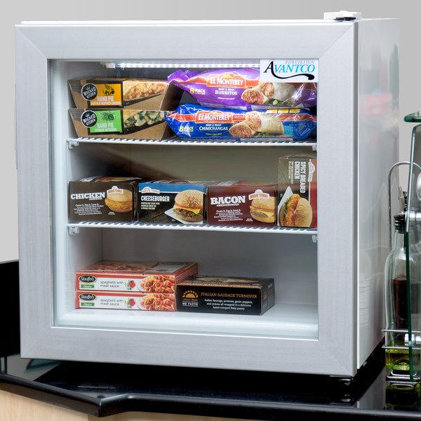 Avantco CFM2 White Countertop Display Freezer with Swing Door Main Image 6