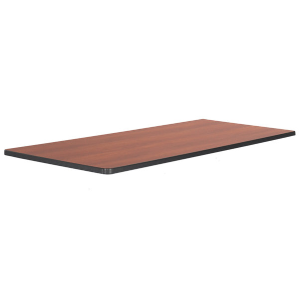 """Safco 2067CY Impromptu Series 72"""" x 24"""" Cherry Mobile Rectangular Training Table Top Main Image 1"""