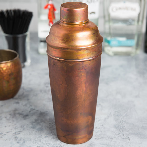 American Metalcraft ACS 24 oz. Antique Satin Finish Copper Cocktail Shaker