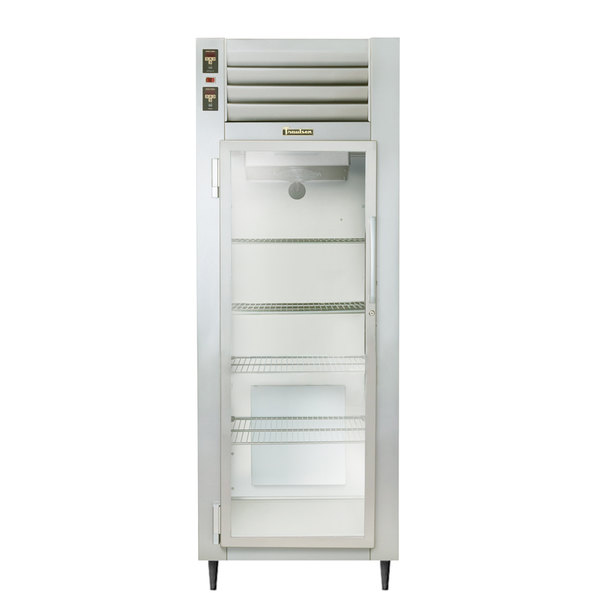 Traulsen AHT132DUT-FHG One Section Glass Door Narrow Reach In Refrigerator - Specification Line Main Image 1