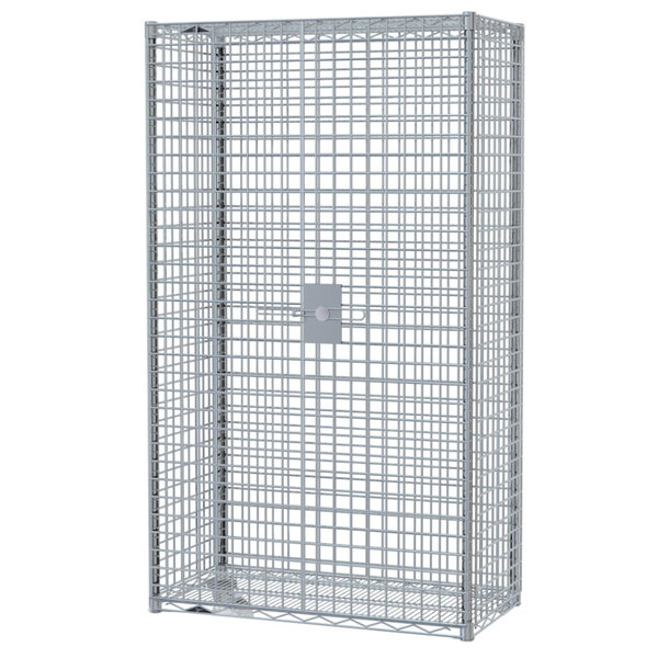 "Metro SEC63S-SD Super Erecta Mobile Stainless Steel Security Unit - 33 1/2"" x 40 3/4"" x 62"" Main Image 1"