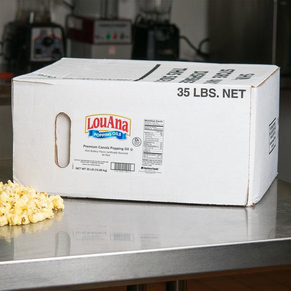 LouAna 35 lb. Bag-in-Box Butter Flavored Canola Popping Oil