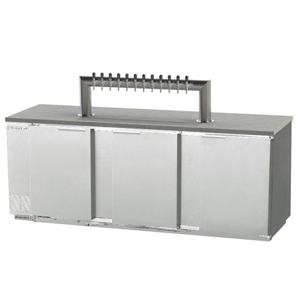 beverage air dd94hc 1 s 12t 12 tap kegerator beer dispenser stainless steel - Beverage Air Kegerator
