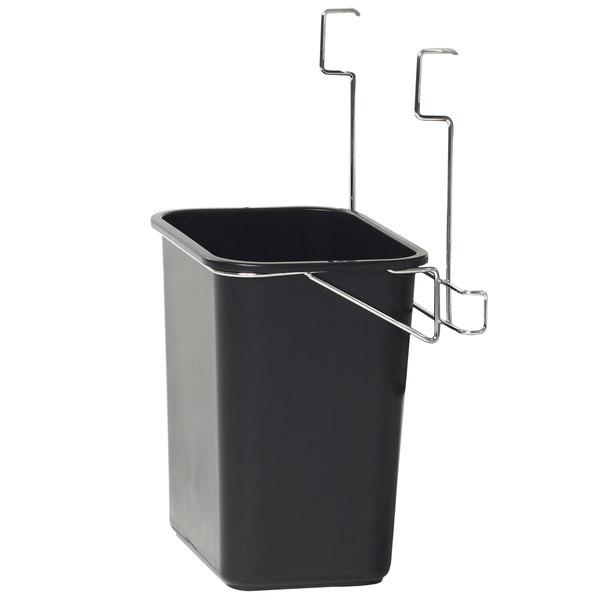 Metro BCWB2D Deep Ledge Utility Cart Wastebasket and Holder Main Image 1