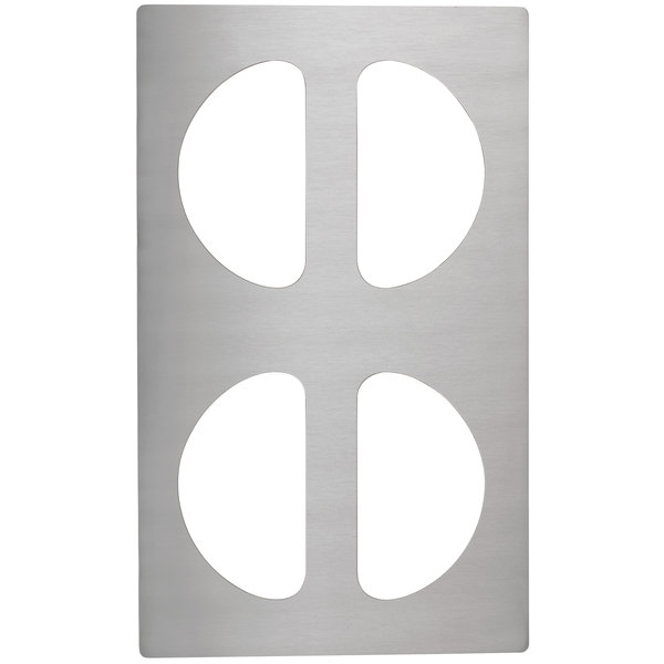 Vollrath 8241314 Miramar Stainless Steel Adapter Plate for Four Half Oval Pans Main Image 1