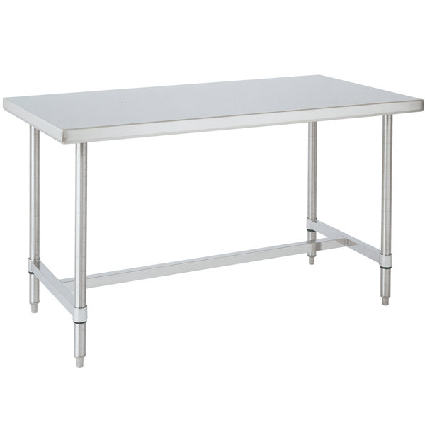 "14 Gauge Metro WT366HS 36"" x 60"" HD Super Open Base Stainless Steel Work Table"