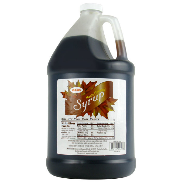 Pancake & Waffle Syrup 1 Gallon Container - 4/Case