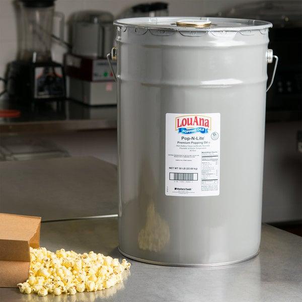 LouAna Pop-N-Lite Popping Oil - 50 lb. Pail