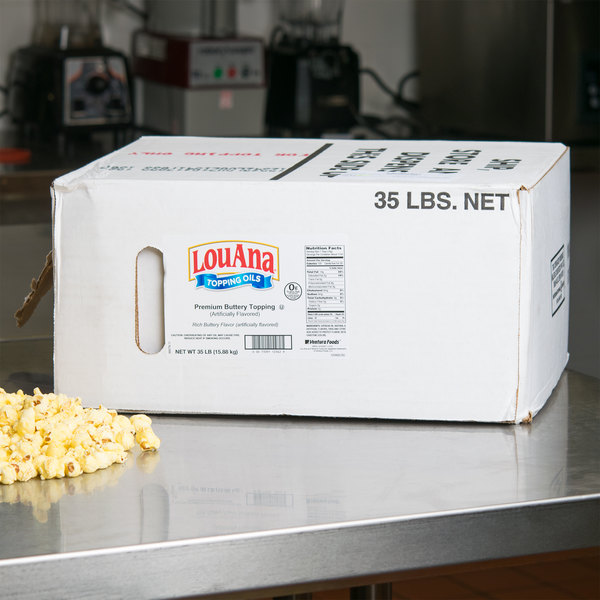 LouAna 35 lb. Bag-in-Box Butter Flavored Topping Oil