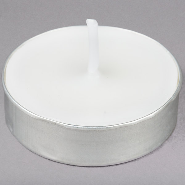 3 to 4 Hour White Tea Light Candle - 500/Case