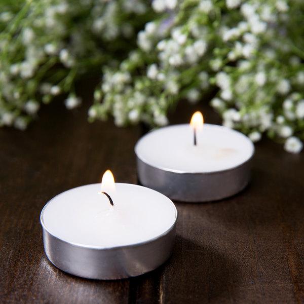 Leola 3 Hour White Tea Light Candle - 500/Case