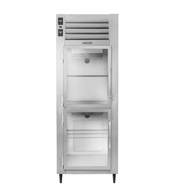 Traulsen AHT126WUT-HHG 19.1 Cu. Ft. One Section Glass Half Door Shallow Depth Reach In Refrigerator - Specification Line