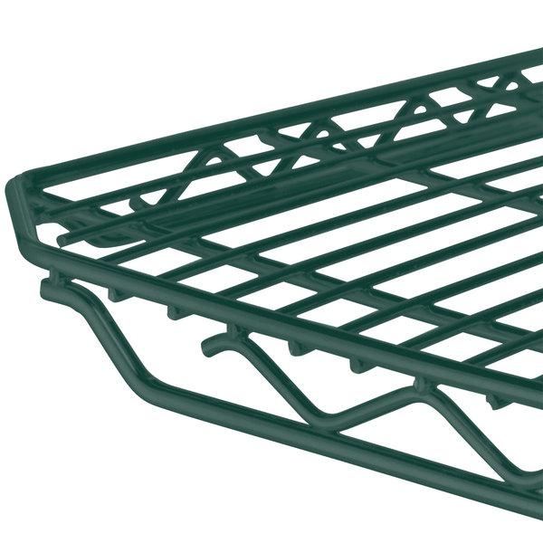 "Metro 2448Q-DHG qwikSLOT Hunter Green Wire Shelf - 24"" x 48"""