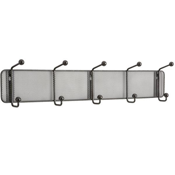 Safco 6403BL Onyx Steel Mesh Five-Peg Coat Hook / Wall Rack Main Image 1
