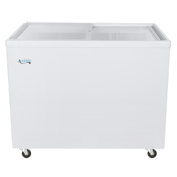 "Avantco ICFF11-HC 42 1/2"" Flat Top Display Freezer"