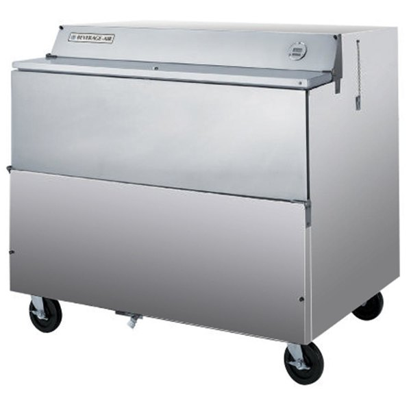 """Beverage-Air SMF49Y-1-S 49"""" Stainless Steel 1-Sided Forced Air Milk Cooler"""