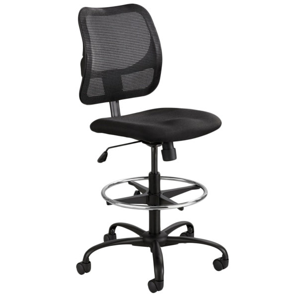 Safco 3395BL Vue Black Fabric Mesh Extended Height Chair