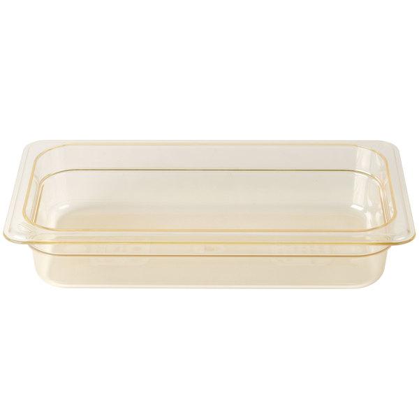 Cambro 32HP150 H-Pan 1/3 Size Amber High Heat Food Pan - 2 1/2 inch Deep