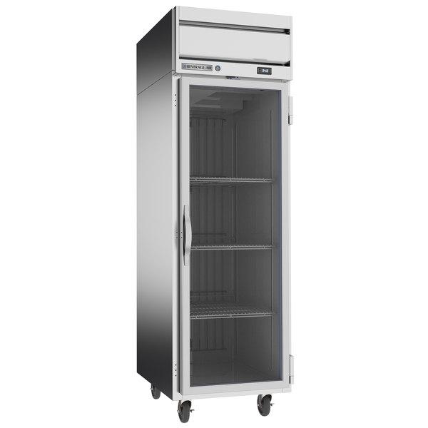 "Beverage-Air HRP1-1G Horizon Series 26"" Glass Door Reach-In Refrigerator with LED Lighting Main Image 1"