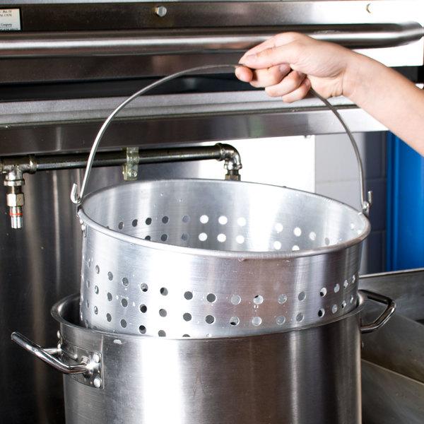 80 qt aluminum stock pot steamer basket. Black Bedroom Furniture Sets. Home Design Ideas