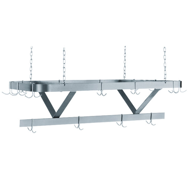"""Advance Tabco SC-72 Stainless Steel Ceiling Mounted Pot Rack - 72"""" Main Image 1"""