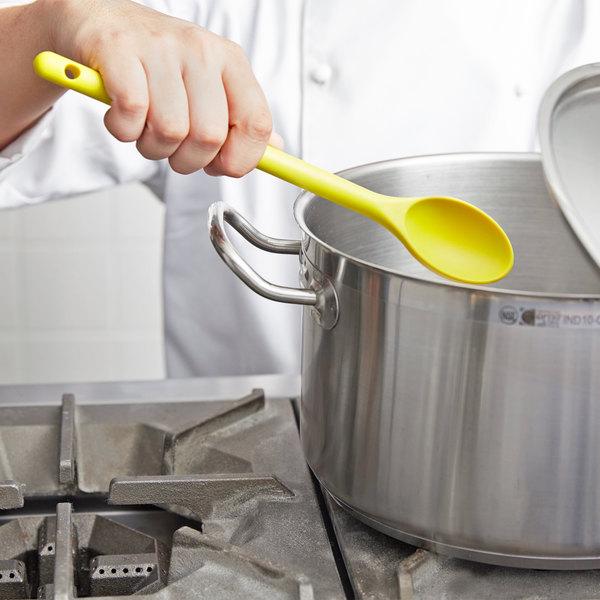 "Vollrath 4689850 12"" Yellow Hi-Heat Nylon Prep Spoon"
