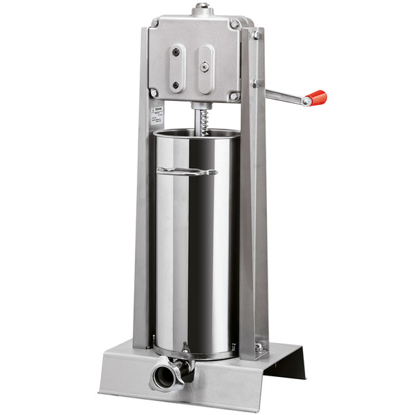 Tre Spade Manual 30 lb. All Stainless Steel Vertical Sausage Stuffer