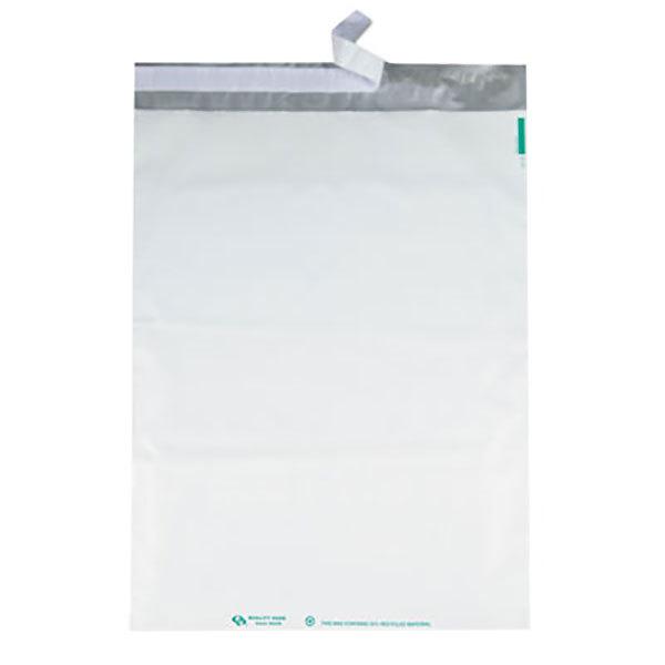 45235 100 per Box, 14 x 19 Quality Park Poly Mailer Redi-Strip White