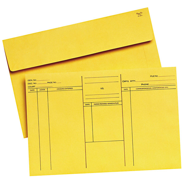 """Quality Park 89701 10"""" x 14 3/4"""" Cameo Buff Ungummed Attorney's Open Side Envelope - 100/Box Main Image 1"""