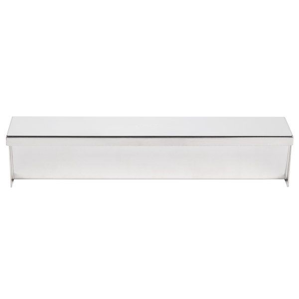 """Ateco 4920 11 3/4"""" Stainless Steel Rectangular Mold and Cover with Flat Bottom (August Thomsen)"""