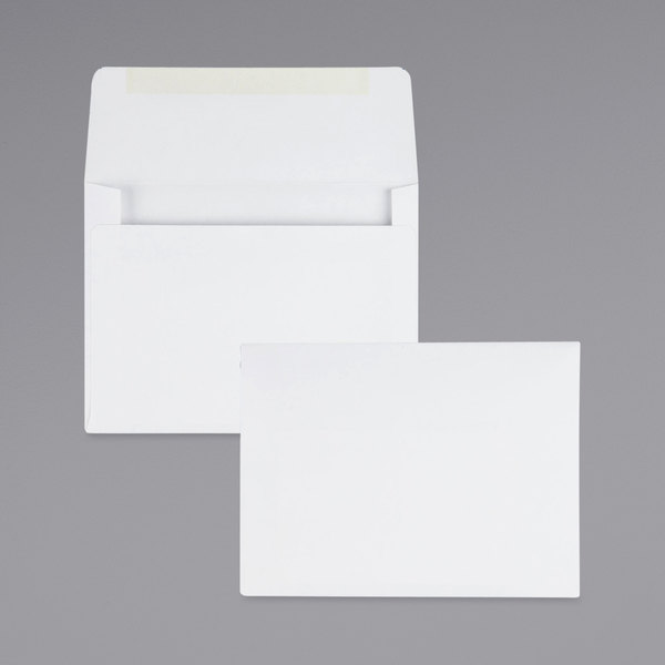 "Quality Park 36226 #5 1/2 4 3/8"" x 5 3/4"" White Gummed Seal Greeting Card / Invitation Envelope - 500/Box Main Image 1"