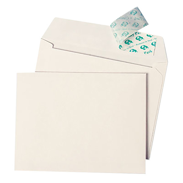 "Quality Park 10742 #10 4 1/2"" x 6 1/4"" White Greeting Card / Invitation Envelope with Redi-Strip Seal - 50/Box"