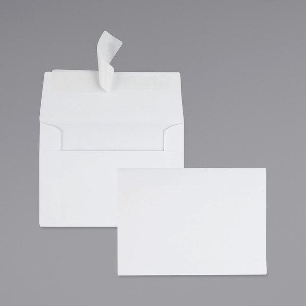 "Quality Park 10742 #10 4 1/2"" x 6 1/4"" White Greeting Card / Invitation Envelope with Redi-Strip Seal - 50/Box Main Image 1"