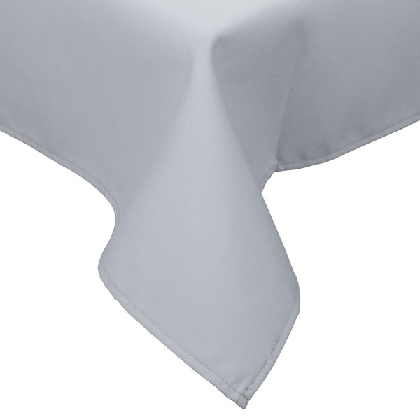 "45"" x 54"" Gray Hemmed Polyspun Cloth Table Cover"