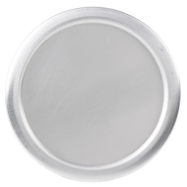 "American Metalcraft 7007 8 1/2"" x 1/4"" Round Standard Weight Aluminum Pizza Pan Separator/Lid"